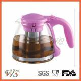 Disegni ultra chiari termoresistenti del POT del tè di infusione di vetro di Borosilicate di Wschas036 Stovetop