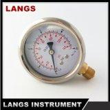 """070A 2.5 """" tipo anillo &#160 del balanceo; Tipo de la parte inferior del calibrador de presión"""