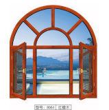 Ventana de aluminio caliente del arco del vidrio Tempered del doble del vendedor