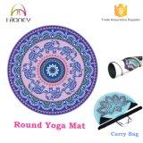 Esteras cómodas de encargo de la yoga de Eco con la estera redonda de la yoga del caucho natural del ejercicio del bolso