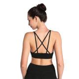 Черный Strappy бюстгальтер йоги для женщин Sportwear Activewear ударопрочного