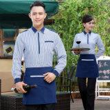 ポリエステルのレストランのウエーターのウェートレスのエプロンユニフォーム