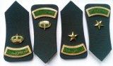 Insigne militaire en métal de grade d'épaule de police d'armée