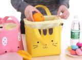 El rectángulo de almuerzo portable del nuevo de la historieta del almuerzo del bolso del Thermos del bolso de almuerzo bolso sonriente del rectángulo para los estudiantes impermeabiliza el bolso