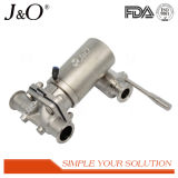 Válvula de diafragma pneumática sanitária do aço inoxidável do projeto novo