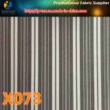 Poliéster hilado teñido tela de la raya, mercancías pronto para el revestimiento de las mujeres traje (X071-6)