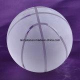 100 mm Crystal Clear baloncesto bola de cristal para el recuerdo