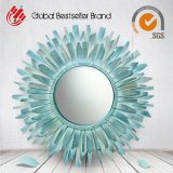Зеркало стены деревянного искусствоа зеркала формы Sun декоративное (LH-M170603)