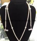 Téléphone MP3 Casque dans Ear Diamond Pearl Beads Couple Collier Écouteurs avec Mic Fashion Gift Girls Earbuds
