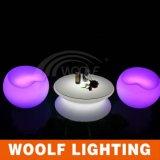 Iluminado em volta da mesa de centro do diodo emissor de luz para o jardim