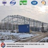 Edificio/construcción/almacén estructurales de acero garantizados aprisa ensamblados