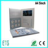 A4パンフレット5のインチTFT LCDのビデオ挨拶状