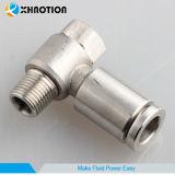 Racor de metal de acero inoxidable T macho del compresor de aire