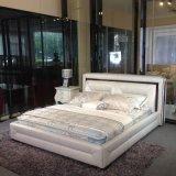 Кровать европейского сбывания высокого качества самого лучшего удобная кожаный (SBT-17)