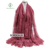 Dame 2017 Fashion Silk Scarf mit Rose Stickerei gefärbter Shaw