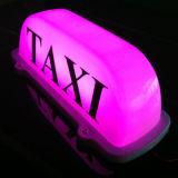 5개의 색깔 자주색 택시 지대 차 지붕 상단 램프