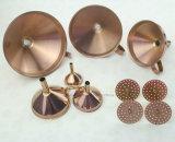 6 PCS Stainelss Funil dourada de Aço