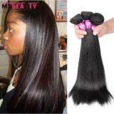Cabelo 100% humano natural brasileiro do cabelo dobro do Virgin da trama