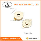 schiocco magnetico dorato di 18mm in accessori del sacchetto