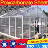 ポリカーボネートによって曲げられる温室の屋根シート