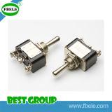 Interruptor de bala dobro de pólo elétrico on-off preto 20A 125VAC