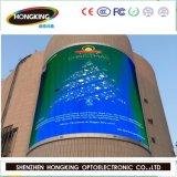 옥외 높은 광도 P10 풀 컬러 발광 다이오드 표시 스크린 영상 벽