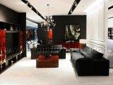 Mesa de café clássica de alta brilho e pintura