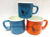 logotipo do OEM da fábrica do esmalte da caneca do presente da caneca do leite da caneca de cerveja da caneca do esmalte 100-400ml