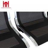 黒いパブリック3-Seater空港待っている椅子