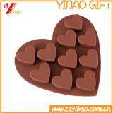 Molde do silicone do bolo do chocolate Mold/10-Cavity DIY do silicone da forma do coração/molde de Jello sobremesa dos doces