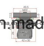 22mm de Vierkante Schakelaar van de Drukknop van het Type