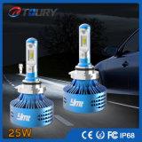 Lâmpada auto LED de 25W, lâmpada principal para motocicleta de carro, farol LED Jeep
