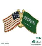 カスタム金属米国及びアラビアのフラグの各国用の友好的な折りえりピン(XD-0313)