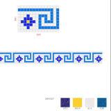 Mosaico, frontera, azulejo, piscina, azulejo