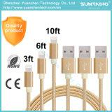 Cable de datos de carga rápido del USB para el iPhone 6 6s más iPad