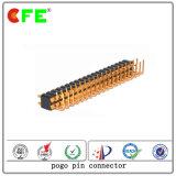 Rechtwinkliger Signal-Aufladeeinheit Pogo Pin-Verbinder der Übertragungs-90