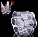 De het transparante Schoonheidsmiddel van de Stijl van de Bloem en Borstel Holde Organizer van de Make-up