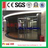 Puerta deslizante de cristal de aluminio modificada para requisitos particulares de la talla con el vidrio doble