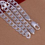 Het Zilver van de Juwelen van de manier plateerde de Eenvoudige Halsband van de Keten van het Ontwerp voor de Mens