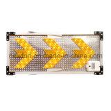 Poteau de signalisation solaire de sens de panneau de flèche gauche de DEL