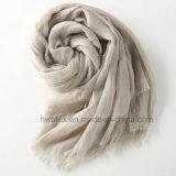 Châle de toile coloré de Ressort-Automne de coton/écharpe unisexe (HWBLC04)