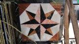 La piedra natural de chorro de agua de mármol con incrustaciones en Medallón Mosaico