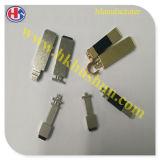 Zubehör-SteckerPin mit dem Messing, gebildet durch CNC-Maschinen (HS-BS-0036)