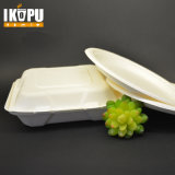 3 Compartimentos Almacenamiento de papel desechable biodegradable Food Box
