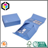 Silbernes Blumen-Firmenzeichen-steifer Papppapier-Geschenk-Kasten