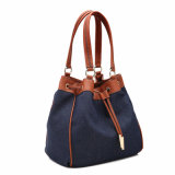 Casual Contraste Color Señora Bucket bolso (MBNO040126)