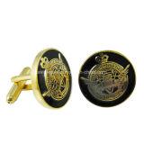 Il metallo degli uomini su ordinazione all'ingrosso di modo/la clip legame smalto/dell'ottone ed i gemelli hanno impostato