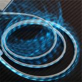 LED, die Mikroaufladenusb-Daten-Kabel für iPhone Android beleuchtet