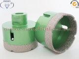 Porcelainware 사기그릇 드릴용 날을%s 진공에 의하여 놋쇠로 만들어지는 건조한 드릴용 날