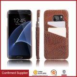 Étui en cuir pour téléphone mobile PU Crocodile Pattern pour Samsung S7 Edge